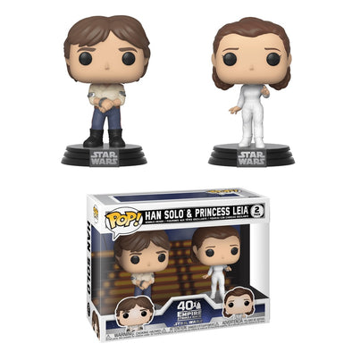 Star Wars - Empire Strikes Back 40th Han and Leia 2-Pack Pop! Vinyl Figure