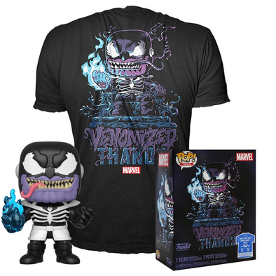 POP Tees - Glow-In-The-Dark Venomized Thanos Pop with Tee Exclusive