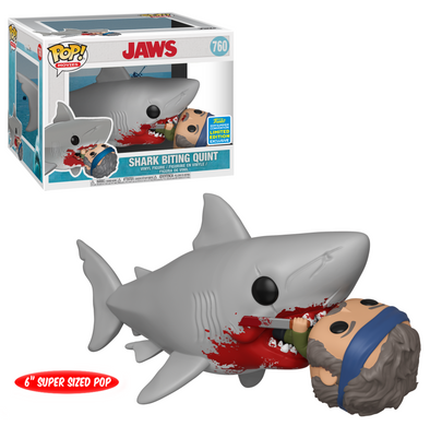"SDCC 2019 - Jaws Great White Shark 6"" Biting Quint Exclusive POP! Vinyl Figure"