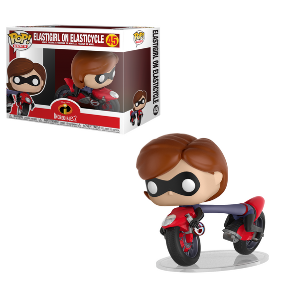 Incredibles 2 - Elastigirl on Elasticycle Pop! Rides Figure