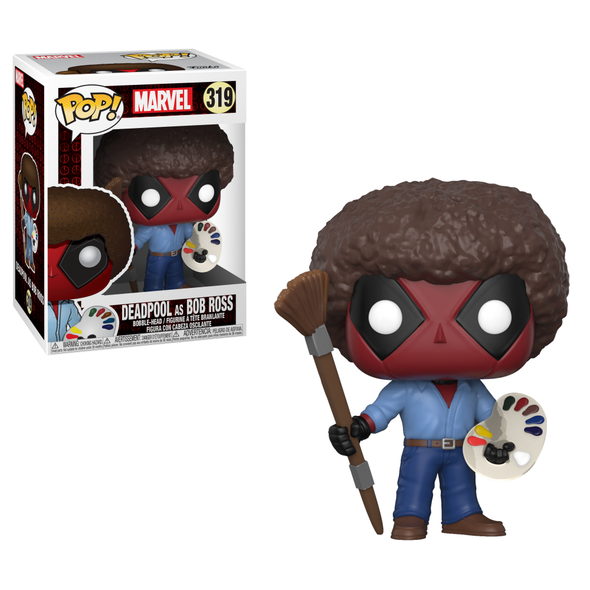 Deadpool 2 Movie - Bob Ross Deadpool Pop! Vinyl Figure