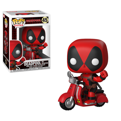 Marvel Deadpool - Deadpool on Scooter Pop! Vinyl Vehicle