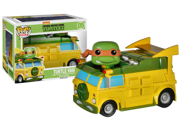 TMNT Turtle Van with Michelangelo Pop! Vinyl Vehicle