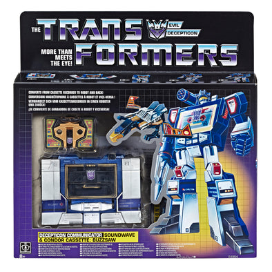 Transformers 2019 G1 Reissue - Soundwave & Buzzsaw