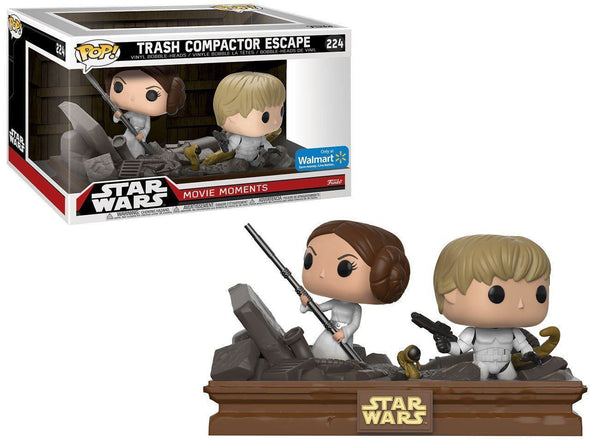 Star Wars: Movie Moments - Trash Compactor Escape Exclusive Pop Vinyl Bobble Heads