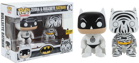 Zebra and Bullseye Batman 2-Pack Exclusive Pop! Vinyl Figures