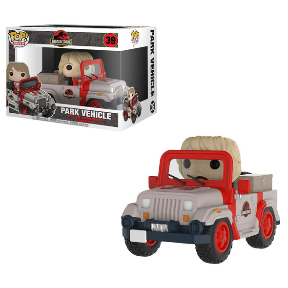 Jurassic Park - Park Vehicle with Ellie Sattler Pop! Vinyl Vehicle