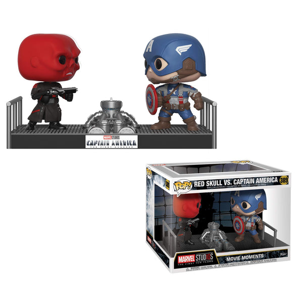 Marvel: Movie Moments - Captain America vs. Red Skull Pop Vinyls