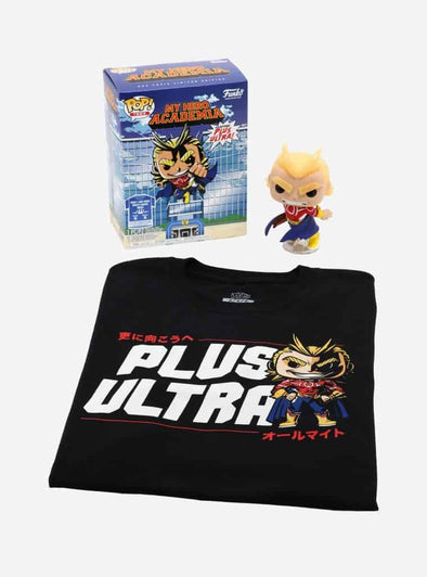 POP Tees - My Hero Academia Glow-In-The-Dark Silver Age All Might Pop with Tee Exclusive