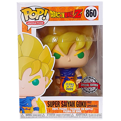 Dragonball Z - Super Saiyan Goku Glow-In-The-Dark (First Appearance) Exclusive Pop! Vinyl Figure