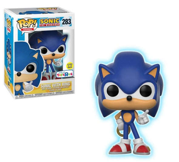 Sonic The Hedgehog - Glow-In-The-Dark Sonic with Ring Exclusive Pop! Vinyl Figure