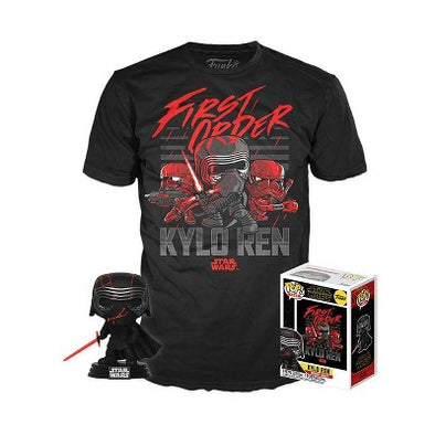 Star Wars - The Rise of Skywalker Kylo Ren (Supreme Leader) Exclusive Pop! with Tee