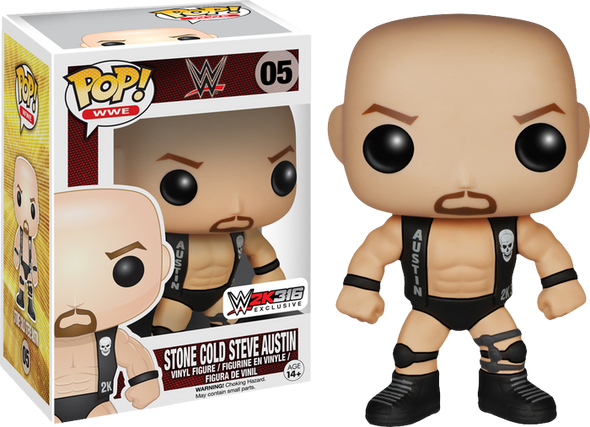 WWE 2K3:16 Stone Cold Steve Austin Exclusive Pop! Vinyl Figure