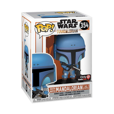 Star Wars The Mandalorian - The Mandalorian Flashback Blue Exclusive POP! Vinyl Figure