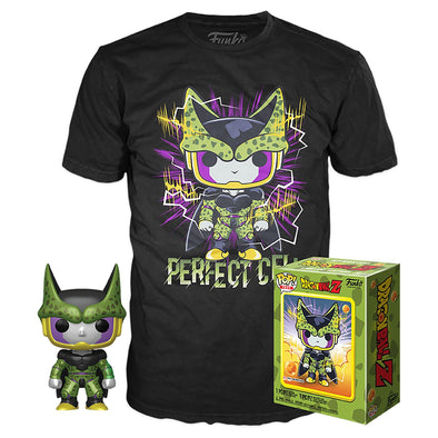 POP Tees - Dragonball Z Metallic Perfect Cell Pop with Tee Exclusive