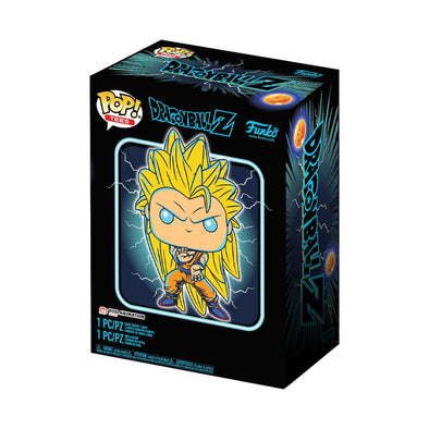 POP Tees - Dragonball Z Glow-In-The-Dark Super Saiyan 3 Goku Pop with Tee Exclusive