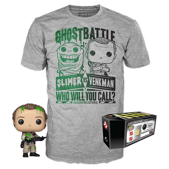 POP Tees - SDCC 2019 Ghostbusters Slimed Peter Venkman POP & Tee Exclusive