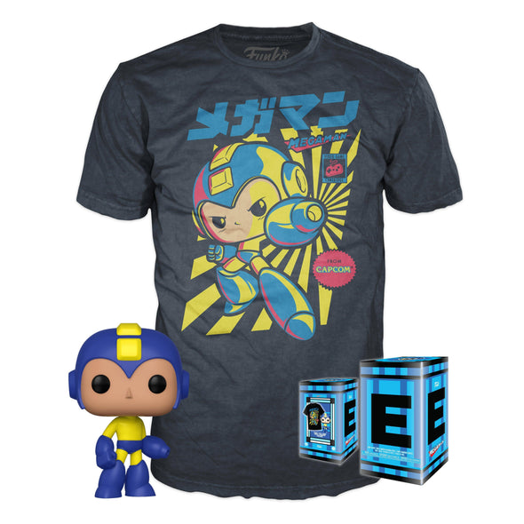 POP Tees - Retro Mega Man Pop with Tee Exclusive