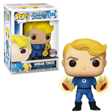 Marvel Fantastic Four (2020) - Human Torch Glow-In-The-Dark Specialty Series Exclusive Pop! Vinyl Figure