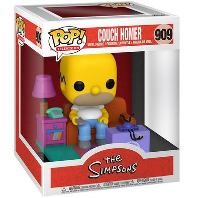 The Simpsons - Homer on Couch Watching TV Deluxe Pop! Vinyl Figure
