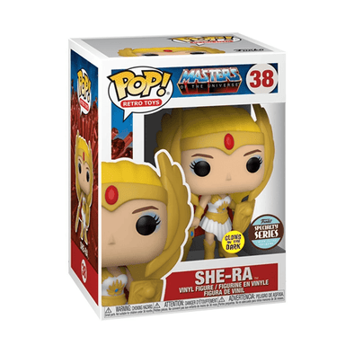 POP Retro Toys - Masters of the Universe She-Ra Glow In The Dark Specialty Series Exclusive Pop! Vinyl Figure