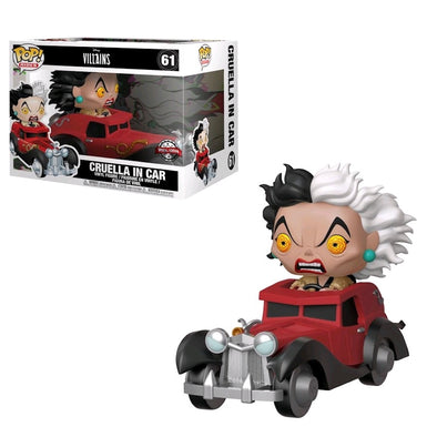 Disney Villains - Cruella De Vil in Car Exclusive Pop! Vinyl Ride