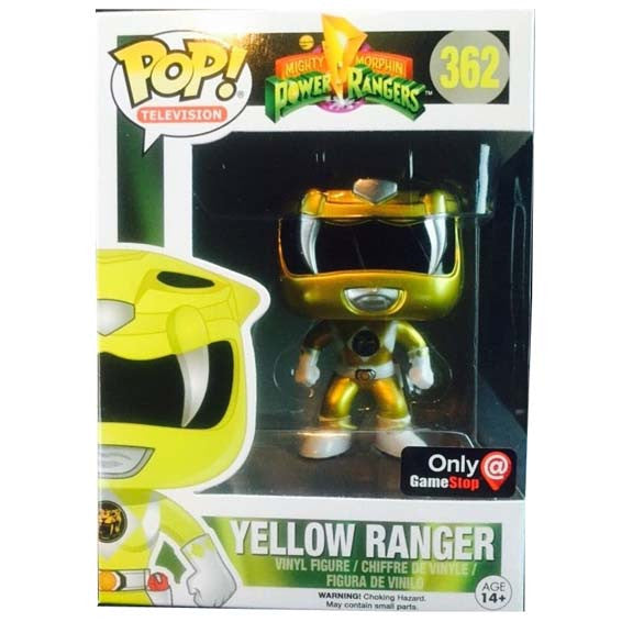 Power Rangers Metallic Yellow Ranger Exclusive Pop Vinyl Figure