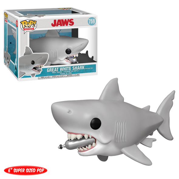 "Jaws - Great White Shark ( w/ Diving Tank) 6"" POP! Vinyl Figure"
