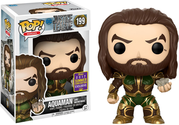 SDCC 2017 - Justice League Aquaman (with Motherbox) Exclusive POP! Vinyl Figure