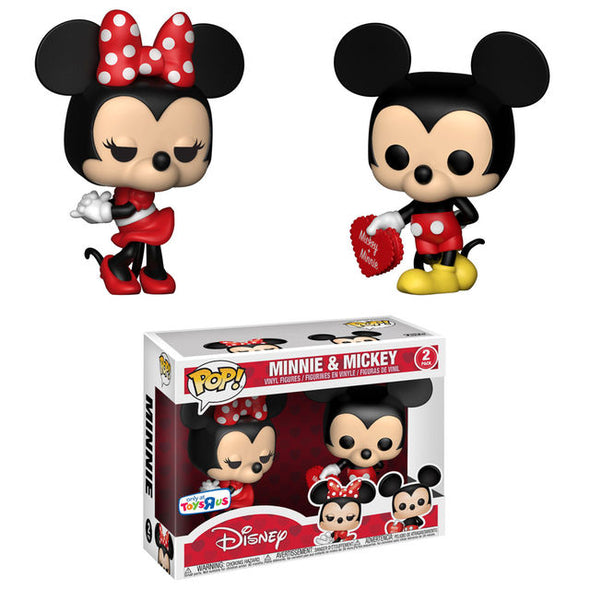 Disney - Mickey & Minnie Valentine 2-Pack Exclusive Pop! Vinyl Figures
