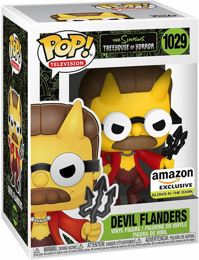 The Simpsons - Treehouse of Horrors Glow-In-The-Dark Devil Flanders Exclusive Pop! Vinyl Figure