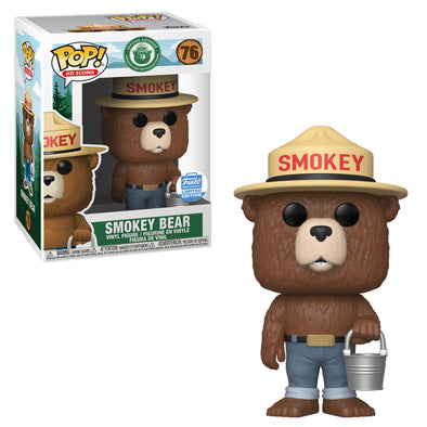POP Ad Icons - Smokey The Bear /w Bucket Exclusive Pop! Vinyl Figure