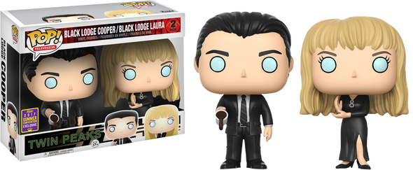 SDCC 2017 - Twin Peaks Black Lodge Cooper & Laura Exclusive 2-Pack Pop! Vinyl Figures