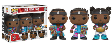 WWE - The New Day (with Booty-O's) Exclusive 3-Pack Pop! Vinyl Figures