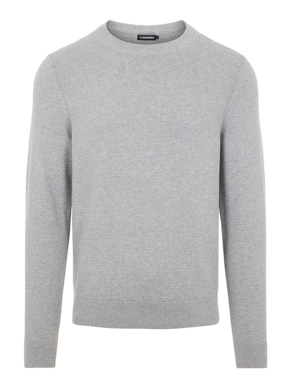 Andy Structure C-Neck Sweater Grå