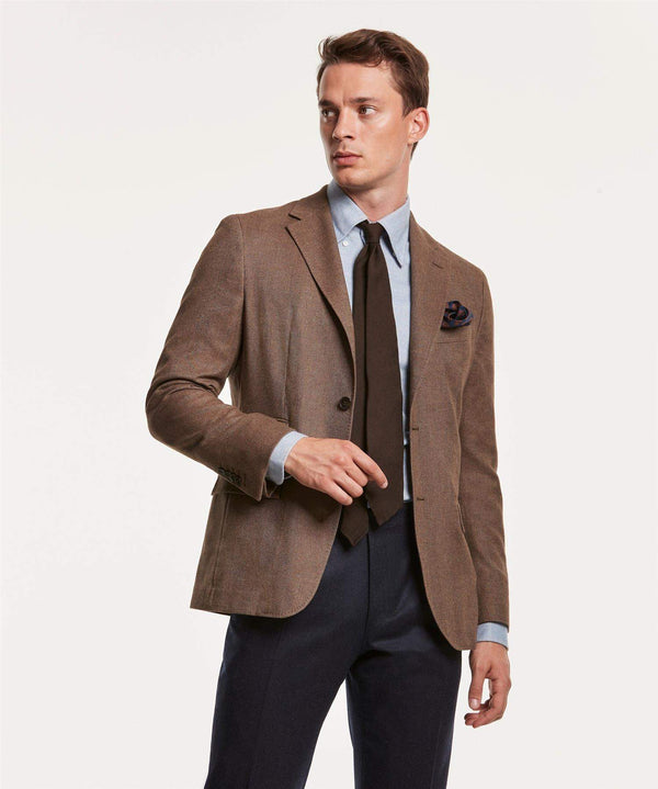 KEITH FISHBONE BLAZER BRUN