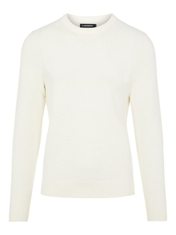 Andy Structure C-Neck Sweater Hvit