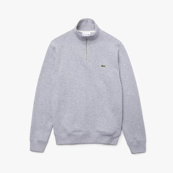 Half Zip Cotton Sweatshirt