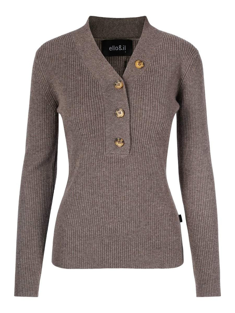 SIRI WOOL SWEATER BRUN
