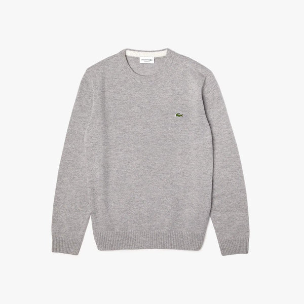 Crew Neck Wool Sweater Grey