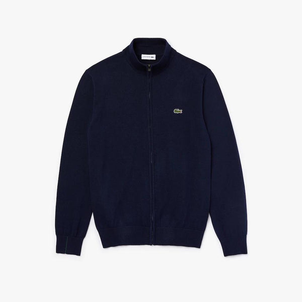 Cotton Zippered Sweater Navy