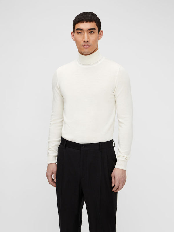 Lyd Merino Turtleneck Sweater Hvit