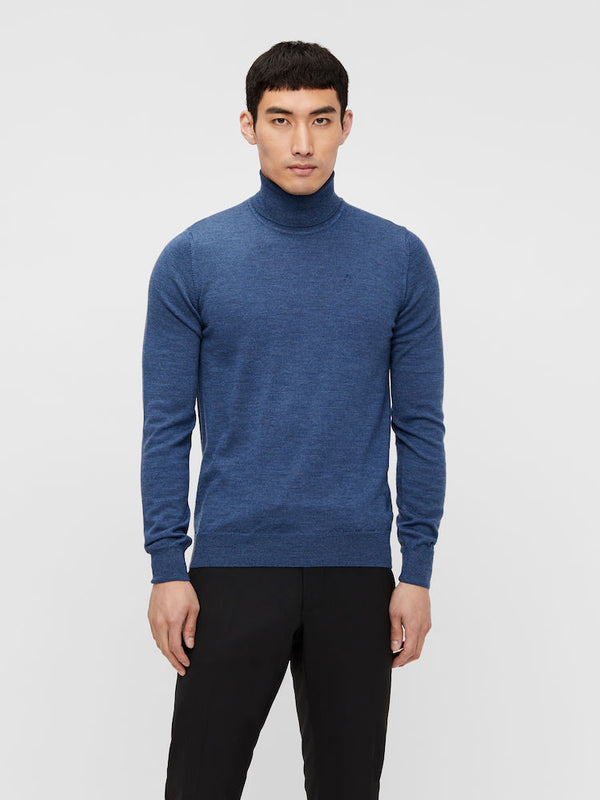 Lyd Merino Turtleneck Sweater Lyseblå