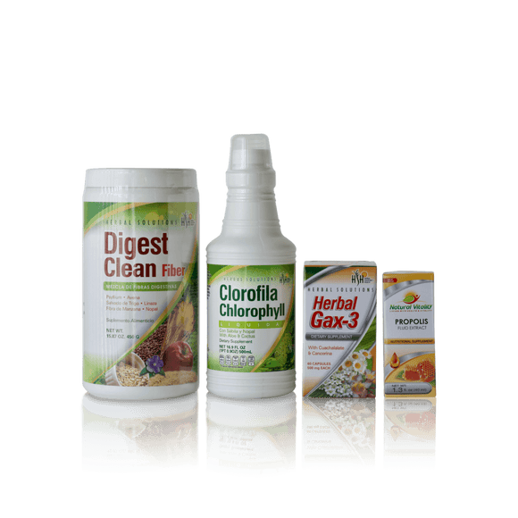 Anti – Gastritis: Digest Clean Fiber, Clorophyll, Herbal Gax-3, Bee Propolis