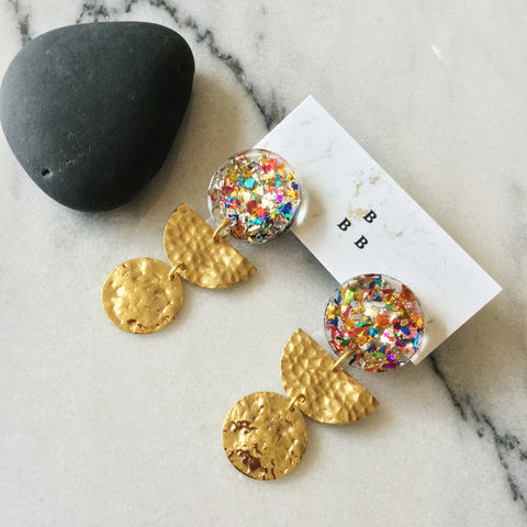 Soft Pop Earrings: Confetti