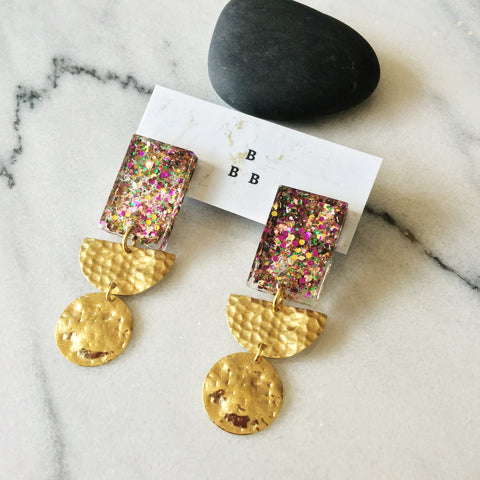 Soft Pop Earrings: Circus Confetti
