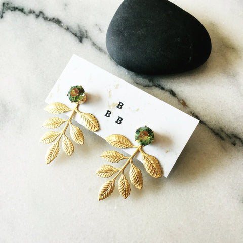 Floral Ear Shields: Irridescent Green