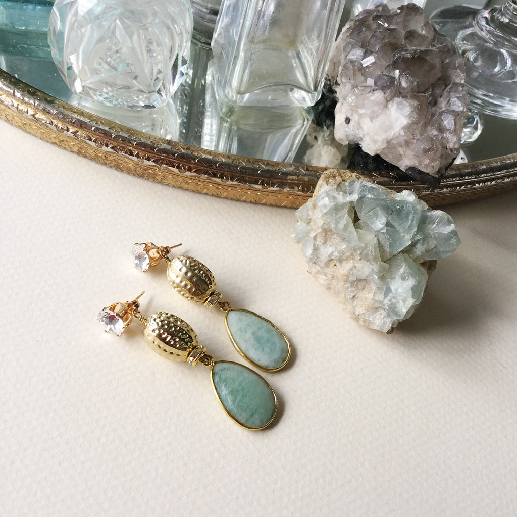 Baroque Drops with Amazonite.