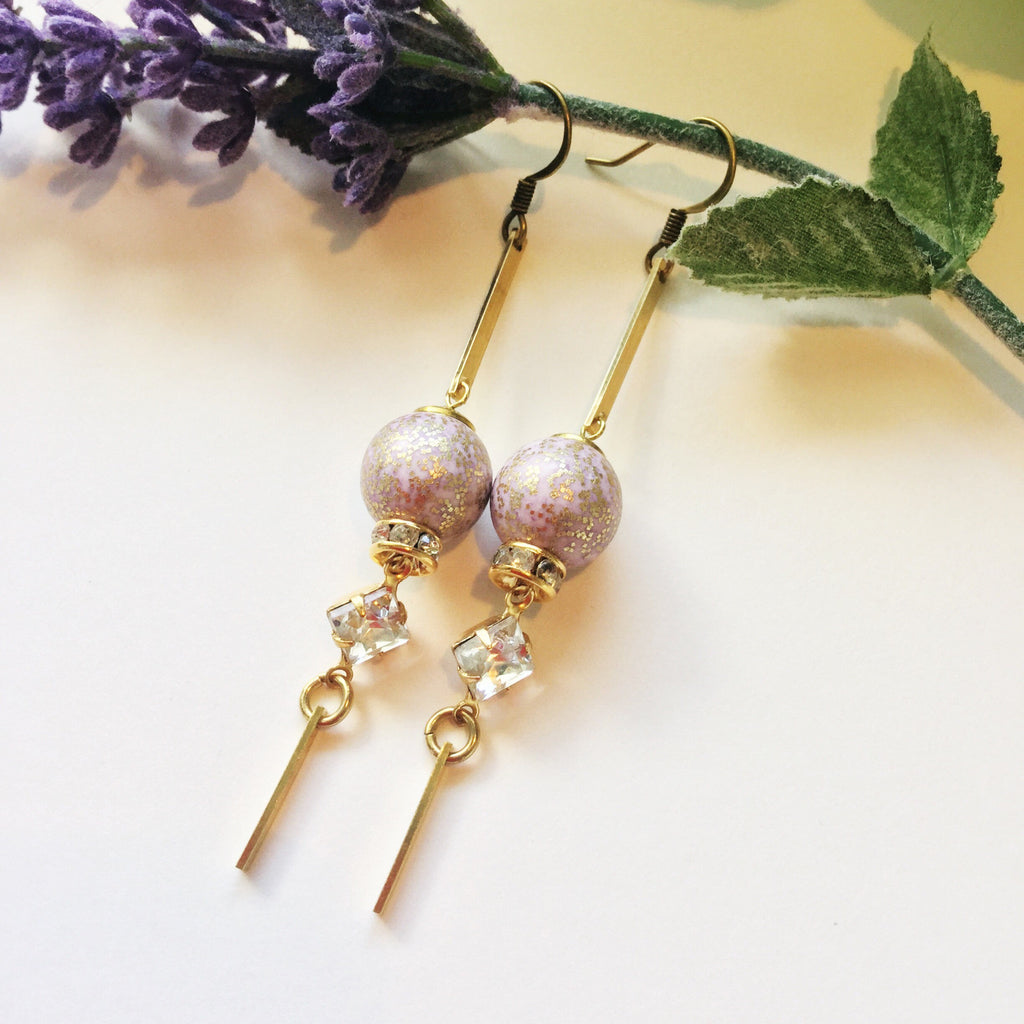 Lillian Drops: Lilac and Gold