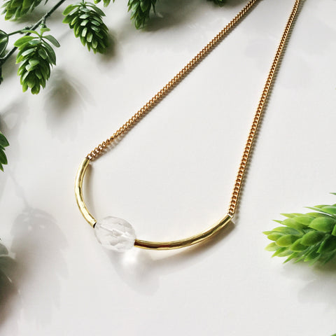 Close to the Heart Necklace: Quartz